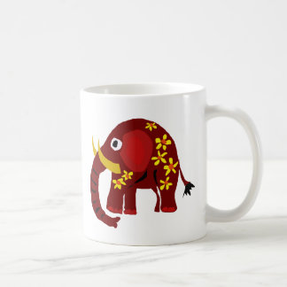 VW- Elephant and Daisies Primitive Art Mugs