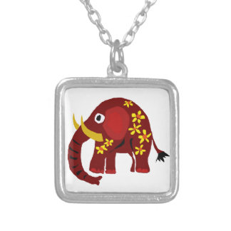 VW- Elephant and Daisies Primitive Art Jewelry