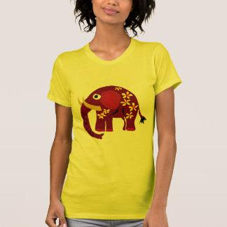 VW- Elephant and Daisies Primitive Art T Shirt