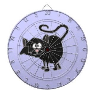 VW- Funny Black Cat Cartoon Dartboard With Darts