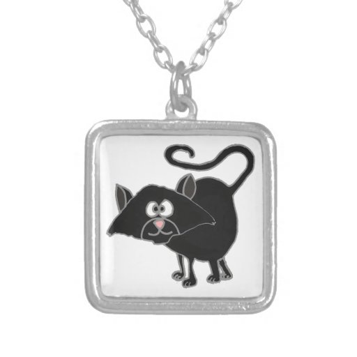 VW- Funny Black Cat Cartoon Pendants