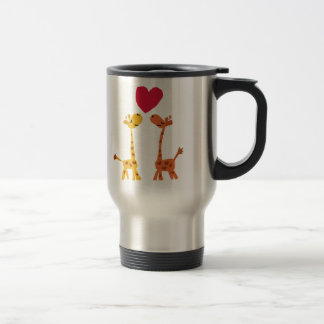 VW- Funny Giraffe Love Cartoon 15 Oz Stainless Steel Travel Mug