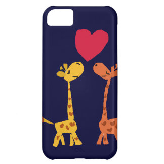 VW- Funny Giraffe Love Cartoon iPhone 5C Case