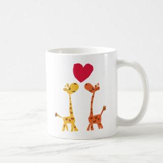 VW- Funny Giraffe Love Cartoon Classic White Coffee Mug