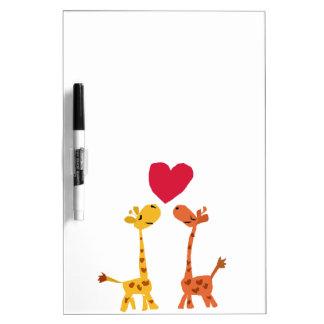 VW- Funny Giraffe Love Cartoon Dry Erase Board