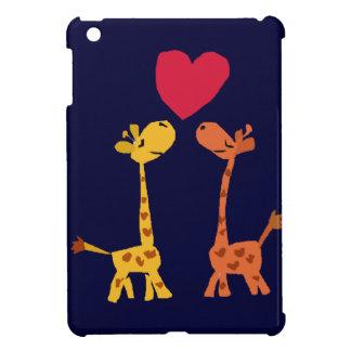 VW- Funny Giraffe Love Cartoon iPad Mini Case