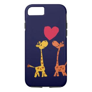 VW- Funny Giraffe Love Cartoon iPhone 7 Case