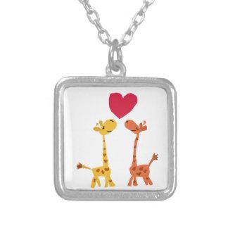 VW- Funny Giraffe Love Cartoon Custom Jewelry