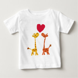 VW- Funny Giraffe Love Cartoon Shirts