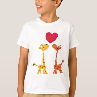 VW- Funny Giraffe Love Cartoon T Shirts