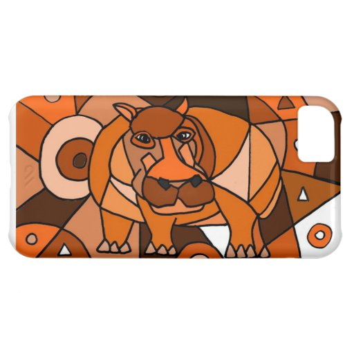 VW- Hippo Abstract Art Design Cover For iPhone 5C