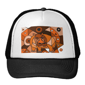VW- Hippo Abstract Art Design Mesh Hat