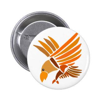 VW- Soaring Eagle Art Design Pinback Button