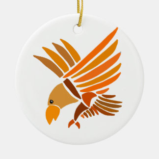 VW- Soaring Eagle Art Design Round Ceramic Ornament