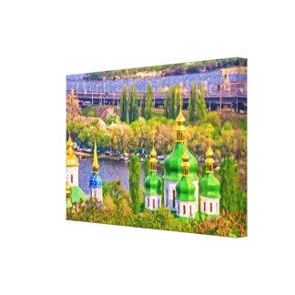 Vydubitsky Monastery. Kiev, Ukraine Canvas Print