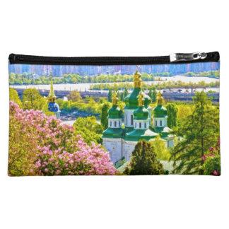 Vydubitsky Monastery. Kiev, Ukraine Cosmetic Bag