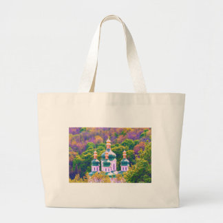 Vydubitsky Monastery. Kiev, Ukraine Large Tote Bag