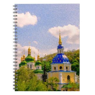 Vydubitsky Monastery. Kiev, Ukraine Notebook
