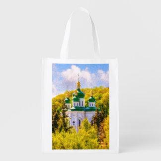 Vydubitsky Monastery. Kiev, Ukraine Reusable Grocery Bag