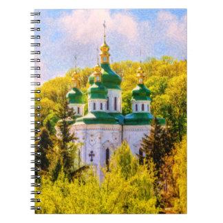 Vydubitsky Monastery. Kiev, Ukraine Spiral Notebook