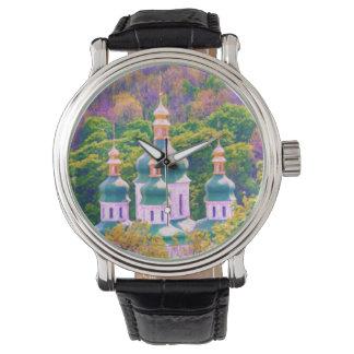 Vydubitsky Monastery. Kiev, Ukraine Wristwatches