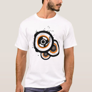 Vynil 3 Circle Orange T-Shirt