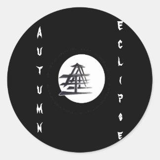 Vynl Eclipse Round Sticker