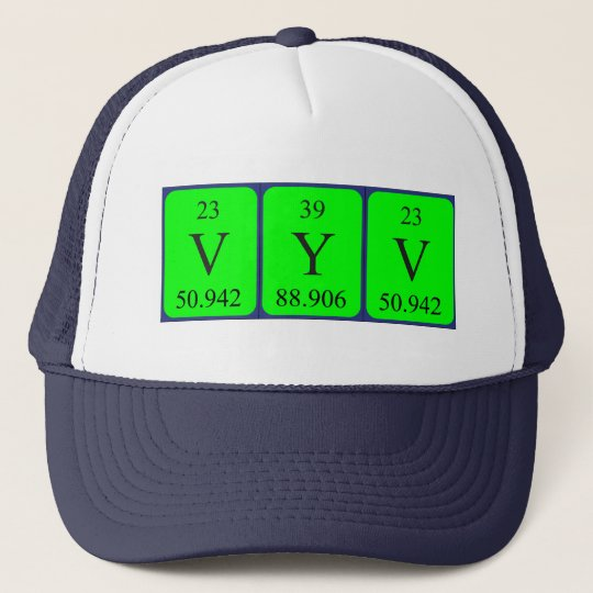Vyv periodic table name hat