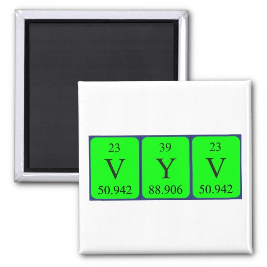 Vyv periodic table name magnet