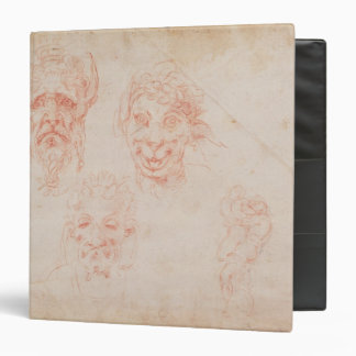 W.33 Sketches of satyrs' faces 3 Ring Binders