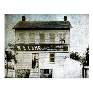 W. A. Lahr Wholesale Cigar Manufacturer circa 1900 Postcard