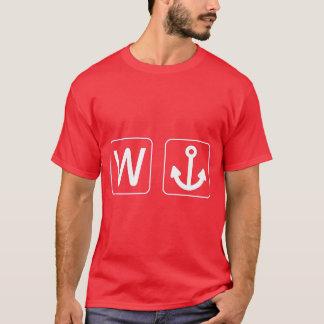 W Anchor Wanchor Funny Gift T-Shirt