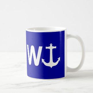 W Anchor Wanchor Funny Joke Gift Coffee Mug