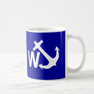 W Anchor Wanchor Joke Funny Gift Classic White Coffee Mug