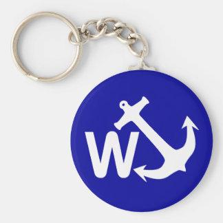 W Anchor Wanchor Joke Funny Gift Keychain