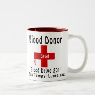 W-baisses du donneur de sang 2011 tasse à café