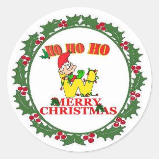 W - CHRISTMAS ELF MONOGRAM SEAL