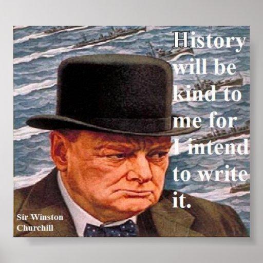 W. Churchill Poster