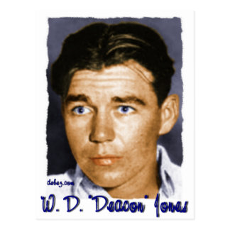 "W,D. ""Deacon"" Jones Postcard"