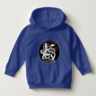 W Dog Papercut Chinese New Year 2018 Kids Hoddie Hoodie