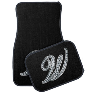 "W Faux-""Diamond Bling"" Car Mat"
