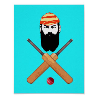 W G Grace Vintage Cricketer Poster
