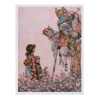 W Heath Robinson Illustration Bill the Minder Poster