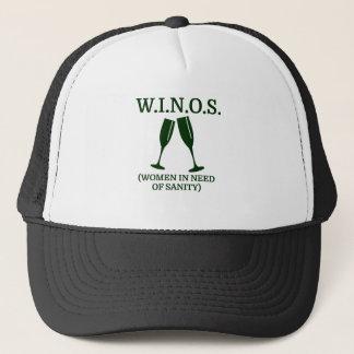 W.I.N.O.S. (women in need of sanity) Trucker Hat