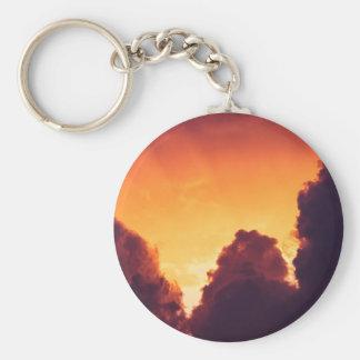 w in weather basic round button keychain