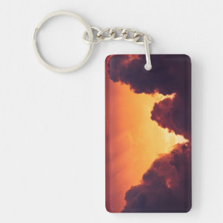 w in weather Double-Sided rectangular acrylic keychain