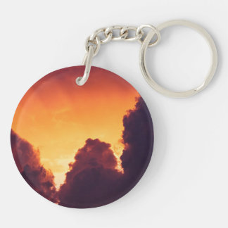 w in weather Double-Sided round acrylic keychain