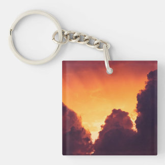w in weather Double-Sided square acrylic keychain