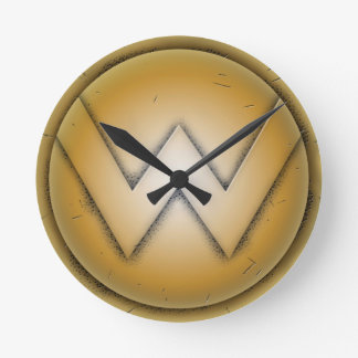 W initial letter round clock