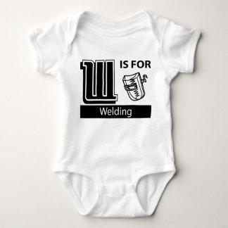 W Is For Welding Baby Bodysuit